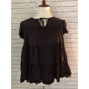 Altar'd State Size Small Charcoal Top